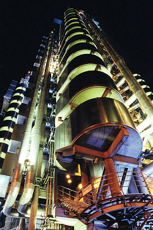 Lloyd's building - Image: Lloyds Building at Night