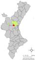 Localització de Vilamarxant respecte del País Valencià.png