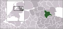 Lage von Ommen in den Niederlanden