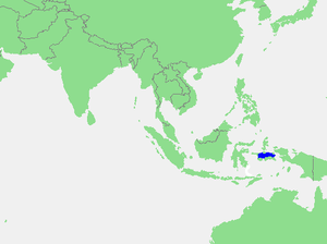 Ceram Sea - Location of the Ceram Sea within Southeast Asia