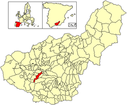 Location of Alhendín