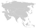 Locustella caudata distribution map.png
