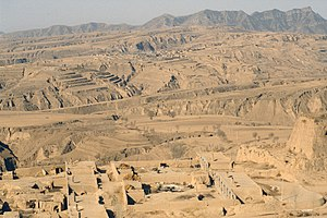Loess - Loess near Hunyuan, Shanxi province, China.