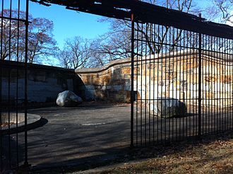Franklin Park (Boston) - The ruins of the Bear Dens from the original Franklin Park Zoo from 1912 located in the Long Crouch Woods in Franklin Park, which are now unsuitable for housing bears.