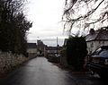Looking down Milner Lane towards the centre of Thorner (7th December 2013).JPG