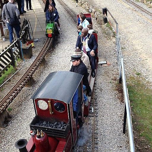 Lord mayor at Abbeydale Miniature Railway