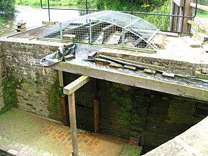 Wey and Arun Canal - Lordings Lock waterwheel