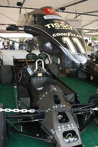 Lotus 88 - The twin chassis internal structure of the Lotus 88
