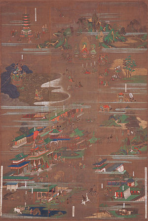 Lotus Sutra - Lotus Sūtra Mandala, Honpoji, Toyama, Japan, c. 1326-28