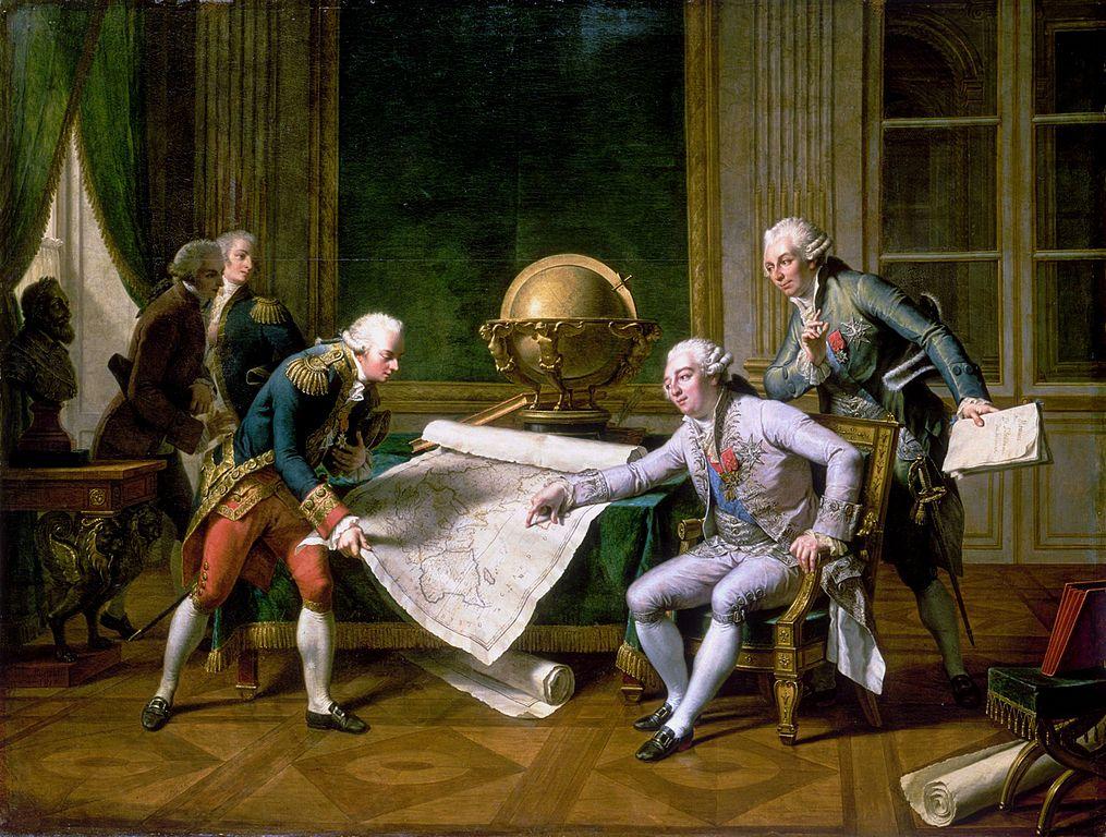 Louis XVI donnant des instructions à La Pérouse, le 29 juin 1785 - peinture de Nicolas-André Monsiau (1754-1837) / CC0
