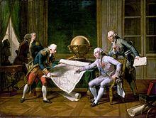 Louis XVI giving La Pérouse his instructions