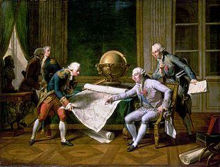 Louis XVI donnant des instructions à La Pérouse, 29 juin 1785