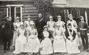 Louise Margaret Hospital - Nurses and other staff of the new hospital, 1898
