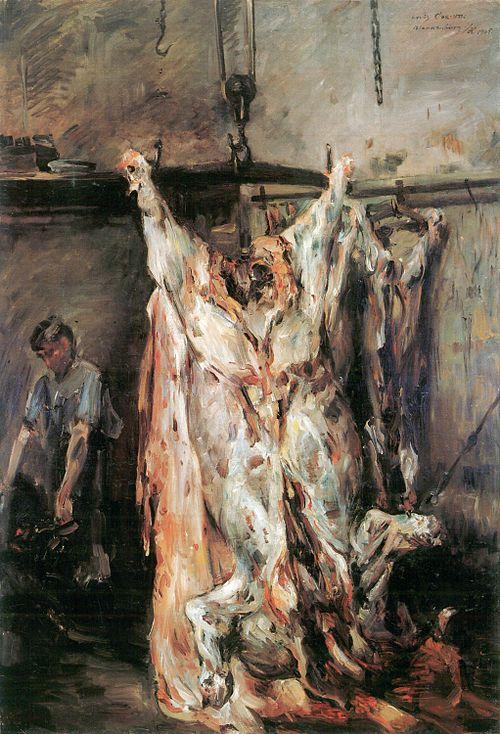 Lovis Corinth Geschlachteter Ochse 1905