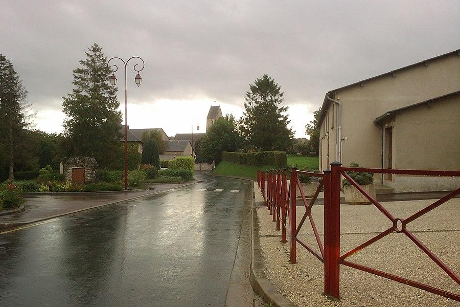 Vue du bourg de fr:Lozon