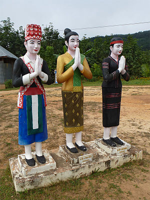 Lao Loum - Images of the Lao Loum (centre) with the Lao Soung and the Lao Theung