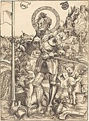 Lucas Cranach the Elder, Saint George Standing, with Two Angels, 1506, NGA 6032.jpg