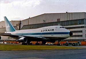 Luxair - A former Luxair Boeing 747SP