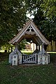 Lychgate of St Mary the Virgin's Church, Aythorpe Roding, Essex, England 2.jpg