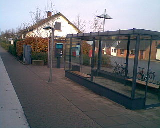 Lyngs station railway station in Struer Municipality, Denmark