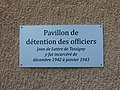 Lyon 3e - Prison Montluc - Pavillon de détention des officiers - Plaque.jpg