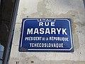 Lyon 9e - Rue Masaryk - Plaque (fév 2019).jpg