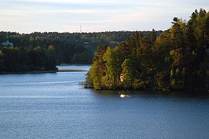 Mälaren - Lake Mälaren at dusk.