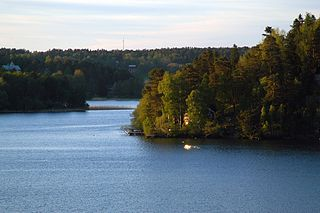 Mälaren lake in Sweden