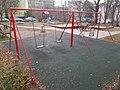Mészáros József street playground, swings, 2018 Mátyásföld.jpg