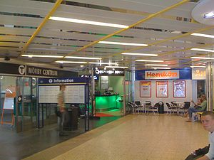Mörby centrum - Metro station entrance inside the shopping mall