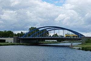 Westhafen Canal - The Mörschbrücke over the Westhafen Canal