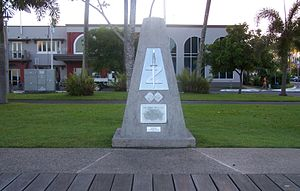 """Z Experimental Station - The M/Z Special Units' Monument on """"The Esplanade"""", Cairns on March 26th, 2007."""