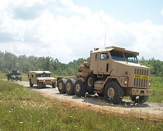 All-wheel drive - The 8×8 tractor unit of the HETS heavy equipment transport system