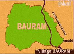 Map of village Bauram