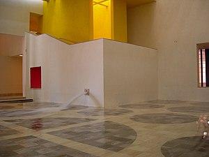 Museo de Arte Contemporáneo de Monterrey - Central Patio with water mirror fountain.