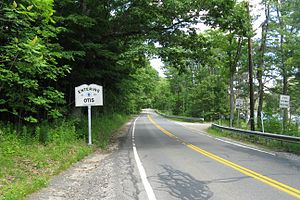 Massachusetts Route 23 - Image: MA Route 23 eastbound entering Otis MA