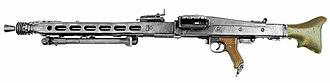 MG 42 - MG 42 with retracted bipod.