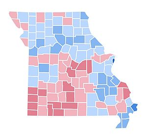 United States presidential election in Missouri, 1996 - Image: MO1996