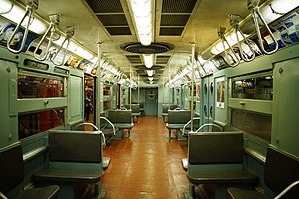 R11/R34 (New York City Subway car) - Image: MTA NYC R11 (R34) 8013 interior