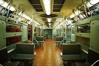 R11/R34 (New York City Subway car) - Image: MTA NYC R11 (R34) 8013 interior
