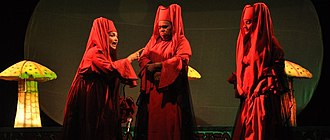 Drama - A scene from the drama Macbeth by Kalidasa Kalakendram in Kollam city, India