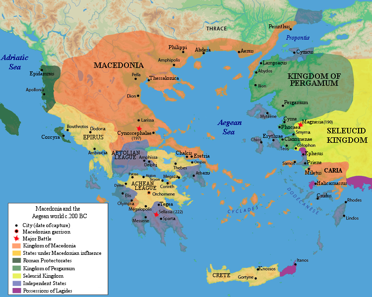 Macedonia and the Aegean World c.200