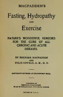 Macfadden's Fasting, Hydropathy and Exercise.djvu