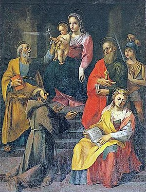Sebastiano Folli - Virgin with Child, fresco from the San Biagio Church in Castiglione d'Orcia