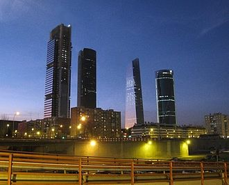 Cuatro Torres Business Area - Image: Madrid Skyline 2008