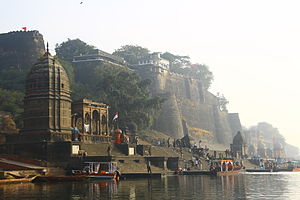 Maheshwar - Ahilya Fort at Maheshwar.