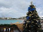 Maho Beach with Christmas Tree (6543935627).jpg