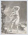 Male Traveler on a Heath in a Storm (recto); Anatomical Studies of a Foot (verso) MET DP866795 1.jpg