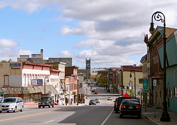 Main street in Malone, Franklin County, New Yo...