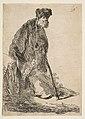 Man in a Coat and Fur Cap Leaning against a Bank MET DP814387.jpg